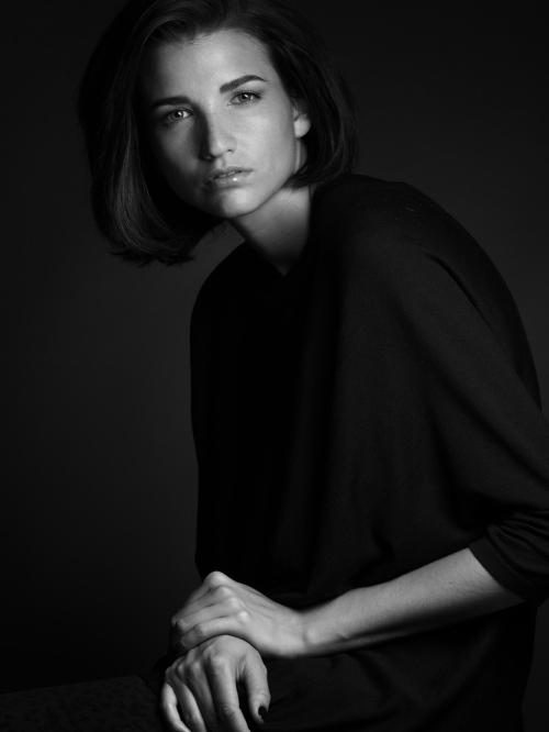 Sophie, Elite, New York, hard light portrait